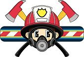 Heroes,Fire Station,Badge,Occupation,Cartoon,Gas Mask,Emergency Services,Ventilator,Vector,Smoke Jumper,Emergency Services Occupation,Emergency Services Vehicle,Arson,Illustrations And Vector Art,Ilustration,People,Uniform,Clip Art,Objects/Equipment,Vector Cartoons,Modern,Cool,Axe,Smiling,Protective Mask - Workwear