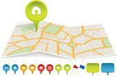 Map,Symbol,Computer Icon,City Map,City,Street,Paper,Vector,Town,Design Element,Ilustration,Abstract,Sign,Backgrounds,Label,Star Shape,Single Object,Set,Design,Objects/Equipment,Shape,Illustrations And Vector Art