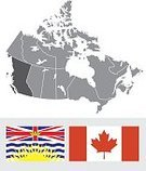 British Columbia,Map,Canadian Provincial Flags,Canada,Silhouette,Canadian Flag,Vector,provincial flag,Icon Set,Isolated On White,province,No People,Ilustration,Flag,Symbol