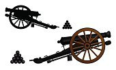 Cannon,War,Vector,Silhouette,Old,Weapon,Gun,Military,Ilustration,Antique,Ancient,Isolated Objects,Vector Cartoons,Vector Backgrounds,Illustrations And Vector Art,Armed Forces,Army