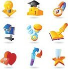 Education,Pedestal,Icon Set,Mortar Board,Healthcare And Medicine,Science,Technology,Concepts,Hat,Book,Pen,Human Teeth,Star Shape,Heart Shape,Hourglass,Chemistry,Compass,Education,Vector Icons,Illustrations And Vector Art,Clip Art,Computer Graphic,Computer,Ilustration,First Aid Kit,Scroll,Test Tube,Vector,Pill,Medicine And Science,Electric Lamp,Magnet,Industry