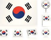 Korea,Flag,South Korean Flag,South Korea,National Flag,Computer Icon,waveform,Map,Icon Set,Circle,Collection,Straight Pin,Ilustration,Flat,Vector,Vector Icons,Curve,Rectangle,Illustrations And Vector Art,Set,Shiny,Travel Locations