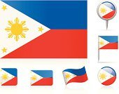 Philippines Flag,Philippines,Flag,Straight Pin,National Flag,Circle,Map,Ilustration,Collection,Flat,Computer Icon,Set,Vector,Travel Locations,waveform,Illustrations And Vector Art,Vector Icons,Icon Set,Shiny,Rectangle,Curve