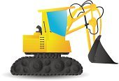 Construction Equipment,Excavation Vehicle,Construction Machinery,Land Vehicle,Commercial Land Vehicle,Illustrations And Vector Art,Yellow,Earth Mover,Industry
