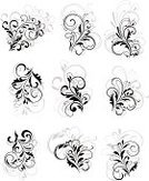 Flourish,Flower,Floral Pattern,Decoration,Plant,Pattern,Abstract,flourishes,filigree,Swirl,Tattoo,Modern,Ornate,Branch,Curled Up,Silhouette,Art,Retro Revival,Part Of,Decor,Vector Florals,Flowers,Vector,Symbol,Computer Graphic,Ilustration,Backgrounds,Isolated,Set,Design,Spiral,Design Element,Illustrations And Vector Art,Scroll Shape,Victorian Style,Antique,Curve,Black Color,Vignette,Nature,Outline,Shape,Elegance,Old-fashioned,Leaf