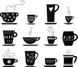 Tea Cup,Tea Party,Coffee Cup,Silhouette,Symbol,Bowl,Tea - Hot Drink,Coffee - Drink,Pottery,Cup,Scented,Saucer,Flower,Vector,Cappuccino,Sketch,Mug,Ilustration,Porcelain,White,Hot Drink,Drink,Ceramics,Single Line,Heart Shape,Heat - Temperature,Kitchenware Department,Crockery,Drinks,Food And Drink,Latte,Objects/Equipment,Large Group of Objects,Mocha,Set,Collection,Espresso,Household Objects/Equipment,Non-alcoholic Beverage,Group of Objects,Condensation,Circle,White Background,Drawing - Activity,Black Coffee,Vector Icons,Decoration,Black Color,Illustrations And Vector Art