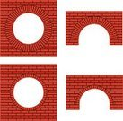 Brick,Arch,Brick Wall,Red,Window,Circle,Symbol,Architecture,Vector,Building Exterior,Computer Icon,Built Structure,Architectural Detail,Vector Backgrounds,Architecture And Buildings,Architecture Backgrounds,Sign,Ilustration,Variation,Hole,Illustrations And Vector Art