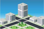Isometric,Street,Building - Activity,Urban Scene,City,Mansion,House,Residential District,Objects/Equipment,Industrial Objects/Equipment,Architecture And Buildings,Illustrations And Vector Art,Vector,Skyscraper