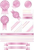 Ribbon,Award Ribbon,Award,Pink Color,Ribbon,First Place,Sport,Medal,Decoration,Satin,Label,Second Place,Heart Shape,Badge,Design Element,Pastel Pink,Set,Shiny,Circle,Competition,Pastel Colored,Copy Space,Incentive,Third Place,Color Gradient,Metallic,Vector,Design,White,Simplicity,Classic