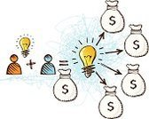 Investment,Ideas,Currency,Savings,Inspiration,Concepts,Business,Financial Occupation,Light Bulb,Cooperation,Success,Partnership,Banking,Solution,Brainstorming,Thinking,Finance,Wealth,Togetherness,Teamwork,Pencil Drawing,Businessman,Vector,Ilustration,Dollar Sign,Making Money,Design,Dollar,Image