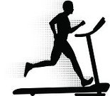 Treadmill,Running,Jogging,Silhouette,Men,Healthy Lifestyle,Vector,Exercising,Black And White,People,Fitness,Sports And Fitness,Illustrations And Vector Art,Sports Training,Ilustration
