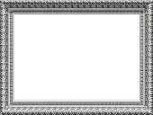 Frame,Picture Frame,Geometric Shape,Vector,Rectangle,Black And White,Pattern,Horizontal,Decoration,Empty,Backgrounds,Computer Graphic,Close-up,Cut Out,Clip Art,Design,Isolated On White,Digitally Generated Image,white color,Isolated,Vector Graphics,White Background,No People,Ilustration,Copy Space,Outline