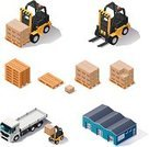 Warehouse,Isometric,Forklift,Symbol,Truck,Icon Set,Distribution Warehouse,Freight Transportation,Pallet,Box - Container,Crate,Industrial,Shipping,Loading,Industry,Store,Delivering,Picking Up,Built Structure,Transportation,facility,Shelf,Cargo Container,Equipment,Front End Loader,Design Element,Station,Vector,Rack,Machinery,Land Vehicle,Package,Stack,Ilustration,Merchandise,Stacking,Set,Cardboard