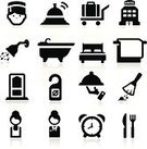 Symbol,Computer Icon,Hotel,Domestic Room,Shower,Bellhop,Bed,Waiter,Icon Set,Service,Bell,Hotel Reception,Visit,Silhouette,Room Service,Vacancy,Black Color,Door,Towel,Men,Serving Tray,Vector,Bathtub,Silverware,Duster,Cultures,Travel,Isolated,Luggage,Alarm Clock,Tourism,Vector Icons,Resting,Fork,Table Knife,Collection,Clock,Set,Illustrations And Vector Art,Bag,Comfortable,Vacations,Ilustration