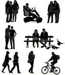 Silhouette,Park Bench,Cycling,Back Lit,Bicycle,People,Wheelchair,Cyclist,Walking,Student,Group Of People,Couple,Business,Communication,Motorcycle,Relaxation,Tourist,Resting,Adult,Friendship,Vector,City Life,Outline,Discussion,Waiting,Computer Graphic,People,Bird,Relationships,Simplicity,Talking,Women,Pigeon,Young Adults,Standing,Love,Digitally Generated Image,Ilustration,Lifestyle,Set,Men