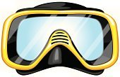 Scuba Mask,Scuba Diving,Snorkel,Underwater Diving,Snorkeling,Face Guard - Sport,Protective Mask - Workwear,Diving,Vector Cartoons,Water,Illustrations And Vector Art,Sports And Fitness