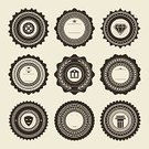 Retro Revival,Old-fashioned,Label,Badge,Symbol,Insignia,Sign,Collection,Set,Vector Icons,Illustrations And Vector Art,Vector