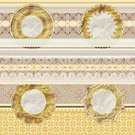 Scrapbook,Pattern,Floral Pattern,Ribbon,Textile,Flower,Seamless,Napkin,Backgrounds,Lace - Textile,Vector,Abstract,Ornate,Retro Revival,Montage,Illustrations And Vector Art,Gold Colored,Vector Florals,Digital Composite,Vector Backgrounds,Vector Ornaments,Part Of,Old-fashioned,Yellow,White,Elegance