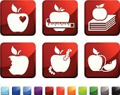 Apple - Fruit,Biting,Missing Bite,Apple Core,Textbook,Computer Icon,Heart Shape,Icon Set,Measuring,Blue,Love,Red,Book,Fruit,Food,Ruler,Teacher's Pet,Design,Ilustration,Empire Apple,Green Color,Square Shape,Baked Apple,Slice,Label,Insect,Stem,No People,Interface Icons,Apple Slice,Instrument of Measurement,Vector,Black Color,White Background,King Apple,Worm,Square,pice,Golden Delicious Apple