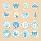Newborn,Label,Child,Cardboard,Symbol,Textured Effect,Little Boys,Holidays And Celebrations,Babies And Children,Vector Icons,Lifestyle,Celebration,Green Color,Blue,Illustrations And Vector Art