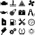 Symbol,Engine,Car,Equipment,Icon Set,Gear,Gasoline,Oil,Fuel Gauge,Battery,Thermostat,Tire,Exhaust Pipe,Vector,Belt,Jumper Cable,Electric Fan,Land Vehicle,Temperature,Wrench,Screwdriver,Can,Ilustration,Electric Lamp,Design Element,Light Bulb,Design,Series,Interface Icons,Clip Art,Clipping Path,tuneup