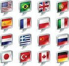 Translation,Talking,Flag,Spain,Italy,China - East Asia,Speech Bubble,England,Poland,France,Germany,USA,British Flag,Brazil,Interface Icons,Bubble,Symbol,Canada,Vector,Speech,UK,Talk,Turkey - Middle East,Portugal,Set,Netherlands,Computer Graphic,Travel Locations,Icon Set,Japan,Greece,Russia,National Landmark,Ilustration,Design,Illustrations And Vector Art,Metal,Cube Shape,Computer Icon