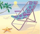 Tanning Bed,Starfish,Beach,Flower,Sand,Sun,Palm Tree,Sky,Shadow,Water,Bodies Of Water,Travel Locations,Chair,Leaf,Sea,Textile,Wave,Nature,Summer,Beaches,Travel,Ilustration,Tropical Climate,Relaxation,Heat - Temperature,Vacations
