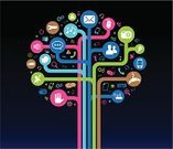 Sharing,Tree,Symbol,Social Issues,Intelligence,Internet,Icon Set,Occupation,Information Medium,Design,People,Plants,Communications Technology,Technology,Concepts And Ideas,Sign,Nature,Communication