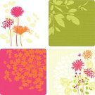 Flower,Single Flower,Butterfly - Insect,Dandelion,Flower Bed,Plant,Silhouette,Summer,Ilustration,Pink Color,Backgrounds,Springtime,Vector,Orange Color,Leaf,Daisy,Green Color,Design,Textured,Design Element,Growth,Textured Effect,Nature,Branch,Copy Space,Beauty In Nature,Magenta,Beauty,Berry Fruit,Stem,Berry