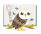 Owl,Picture Book,Reading,Clock,Mouse,Nursery Rhyme,Bookstand,Industry,Education,Hickory Dickory Dock,Birds,Grandfather Clock,Book,Animals And Pets,Illustrations And Vector Art