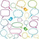 Thought Bubble,Speech Bubble,Social Networking,Internet,Vector,Discussion,Collection,Communication,Design Element,Sign,Blank,Symbol,Computer Icon,Isolated,Concepts And Ideas,Set,Ilustration,Vector Icons,Illustrations And Vector Art,Bird,Communication,Label,Copy Space,Message,Cute,Multi Colored