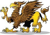 Griffin,Cartoon,Eagle - Bird,Animal Tongue,Claw,Beak,Monster,Characters,Tail,Color Image,Lion - Feline,Illustrations And Vector Art,Vector Cartoons,Animals And Pets,Concepts And Ideas,heraldic,Feather