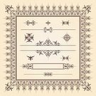 Flourish,Frame,caligraphic,Old-fashioned,Retro Revival,Design Element,Pattern,Vector,Set,Swirl,Paper,Old,Sepia Toned,Classic,Document,Elegance,Computer Graphic,Vector Ornaments,Illustrations And Vector Art,Backgrounds,Aging Process,Victorian Style,Classical Style,Ilustration,Nostalgia,Vignette,Brown,Decoration,Design,Copy Space,Parchment,Vector Backgrounds,Certificate,Ornate,Collection,Label