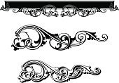 Gothic Style,Frame,Banner,Ornate,Art,Scroll Shape,New,Floral Pattern,Renaissance,Victorian Style,Vector,Retro Revival,Old-fashioned,Decoration,Sign,Art Nouveau,Plan,Label,Leaf,Ribbon,Design,Black Color,Elegance,No People,Horizontal,Outline,Three Objects,Clip Art,Holidays And Celebrations,Illustrations And Vector Art,White Background,Concepts And Ideas