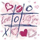 Gift,Love,Romance,Pink Color,Doodle,Red,Pattern,Shape,Backgrounds,Day,February,Valentine's Day,Holidays And Celebrations,Fun,Symbol,Decoration,Abstract,tic,Illustrations And Vector Art,Weddings,Vector Icons,Sign,Vector,Anniversary,Ilustration,Celebration,Computer Graphic