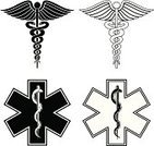 Paramedic,Caduceus,Symbol,Healthcare And Medicine,Star Of Life,Snake,Rescue,Star Shape,Medicine And Science,Health Symbols/Metaphors,Medical,Illustrations And Vector Art,Beauty And Health,Help,Assistance,Ilustration