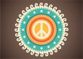 Hippie,Symbols Of Peace,Insignia,Poster,Retro Revival,Design,Peace On Earth,Sign,Ideas,Vector,Symbol,Badge,Concepts,Coat Of Arms,Multi Colored,Ilustration