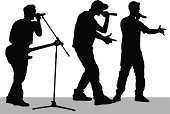 Silhouette,Musician,Musical Band,Singing,Singer,People,Catwalk - Stage,Young Adult,Rock and Roll,The Human Body,Microphone,Guitar,Popular Music Concert,Music,Musical Instrument,Performer,Outline,Party - Social Event,Guitarist,Pop Musician,Art,Punk,Ilustration,Illustrations And Vector Art,People,Vector,Equipment,Cultures,Music,Performing Arts Event,Arts And Entertainment,Men,Adulation,Event,Sound
