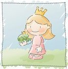 Princess,Frog,Fairy,Prince,Frog Prince,Fairy Tale,Cartoon,Child,Vector,Little Girls,Cute,Crown,Kissing,Animal,Scribble,Ilustration,Prince Charming,Drawing - Activity,Change,Drawing - Art Product,Child's Drawing,Fantasy,Watercolor Painting,Childhood,Sketch,Storytelling,Costume,Pencil Drawing,Friendship,Imagination,Dress,Playing,Play,Magic,People,Beautiful,Playful,Love,Chivalry,Period Costume,One Person,Romance,Flirting,Dressing Up,Amphibians,Traditional Clothing,Animals And Pets,Concepts And Ideas,People