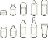 Bottle,Jar,Plastic,Container,Vector,Label,Line Art,Glass - Material,Bin/tub,Lid,Storage Compartment,Ideas,Concepts,Alcohol,Objects/Equipment,Food And Drink