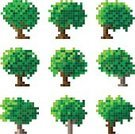 Pixelated,Tree,Symbol,Computer Icon,Oak Tree,Woodland,Plant,Abstract,Forest,Vector,Nature,Nature Symbols/Metaphors,Vector Florals,Illustrations And Vector Art,Stem,Vector Icons,Leaf,Tree Trunk,Set