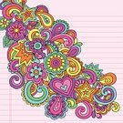 Hippie,Psychedelic,Symbols Of Peace,Peace Symbol,Psychedelic Music,Cool,Love,Back to School,Flower,Single Flower,Doodle,Peace On Earth,Heart Shape,Hand-drawn,Illustrations And Vector Art,Ilustration,Vector Florals,Vector,Design Element,Vector Ornaments,Graph Paper,Star Shape,Drawing - Art Product,Scribble