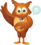 Owl,Microphone,Cartoon,Bird,Intelligence,Ilustration,Karaoke,Wisdom,Music,Performing Arts Event,Cute,Animal,Illustrations And Vector Art,Music,Isolated,Vector Cartoons,Performer,Cheerful,Musical Note,Musician,Entertainment,Feather,Animals And Pets,Arts And Entertainment,Brown,White,Singing,Birds,Performance,Joy,Happiness,Smiling