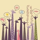 Animal,Zoo,Giraffe,Africa,Abstract,Pattern,Fun,Forest,Painted Image,Wallpaper,Family,Cute,Group of Objects,Design,Cartoon,Mammal,Ilustration,Group Of Animals,Childhood,Wildlife,Vector Cartoons,Vector,Sun,Illustrations And Vector Art,Savannah,Computer Graphic,Animals And Pets,Beautiful,Yellow,Pencil Drawing,Nature