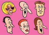 Human Face,Laughing,Cartoon,Women,Men,Cheerful,Friendship,People,People,Happiness,Set,Drawing - Art Product,Group Of People,Illustrations And Vector Art,Vector Cartoons,Toothy Smile,Vector,Smiling,Ilustration,Fun