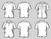 Polo Shirt,Vector,T-Shirt,Vector Icons,Illustrations And Vector Art,White,Clothing