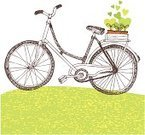 Bicycle,Cycling,Old-fashioned,Wheel,People Traveling,Summer,Travel,Shopping Cart,Healthy Lifestyle,Seedling,Recreational Pursuit,Mode of Transport,Outdoors,Transportation,Healthy Lifestyle,Concepts And Ideas,Nature,Spring,Matthew Spring,Leisure Activity,Tours,Grass,Sport