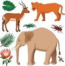 Elephant,Symbol,Computer Icon,Animal,Set,Clip Art,Icon Set,Africa,Ilustration,Gazelle,Vector,Wildlife,Animals In The Wild,Animals And Pets,african animals,Wild Animals,Vector Icons,African Elephant,Illustrations And Vector Art,Profile View,Lioness,Animal Themes,Cartoon,Color Image,Side View