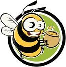 Honey Bee,Bee,Vector,Honey,Badge,Ilustration,Humor,Smiling,Characters,Cute,Carrying,Flying,Insects,Computer Graphic,Animals And Pets,Cooking Pan,Insect,Cheerful,Yellow,Circle,Happiness,Green Color,Drawing - Art Product,Illustrations And Vector Art,Isolated,Vector Cartoons