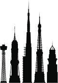 Futuristic,Silhouette,City,Urban Scene,Cityscape,Architecture,Skyscraper,Digitally Generated Image,Part Of,Tower,Modern,Urban Skyline,Built Structure,Isolated,Building Exterior,Design Element,Isolated On White,White Background,Monochrome,Outline,Ilustration,Black Color